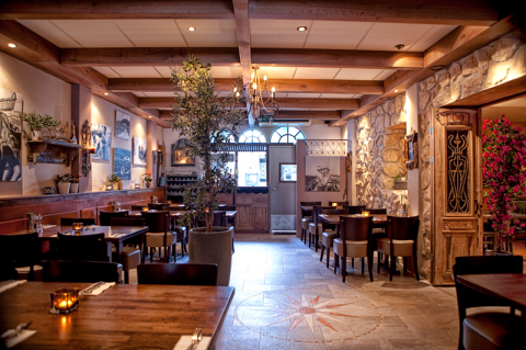 Achterzijde restaurant